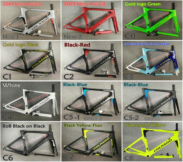 11 cores T1000 UD Colnago Conceito quadros de bicicleta de estrada de carbono C60 C64 com XXS / XS / S / M / L / XL Fosco / Brilhante frete grátis