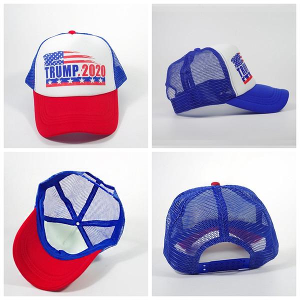 Gorra de béisbol de malla Donald Trump 2020 al aire libre verano Make America Great Again hat Sombrero republicano Gorra deportiva de malla AAA1894