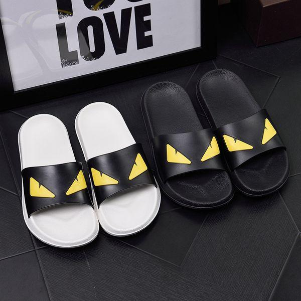 women man slippers casual summer Sandals slipper Scuffs flats high quality Beach slippers Devil' s eye slide free shipping