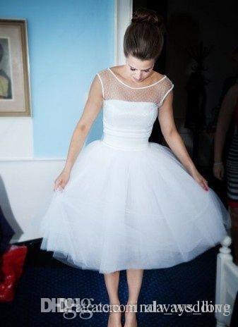 2019 Ucuz Sevimli Bir Çizgi Kokteyl Elbise Moda Beyaz Kısa Tül Holiday Club Homecoming Parti Elbise Artı Boyutu Özel Yapmak Giymek