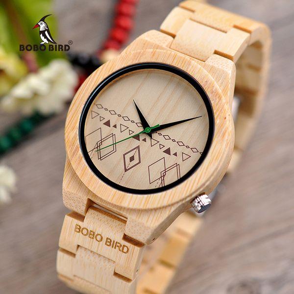 Relogio masculino BOBO VOGEL Männer Uhren Bambus Holz Uhren Quarz Armbanduhren in Holz Box Akzeptieren Logo Drop Shipping