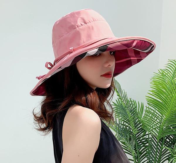 Fisherman hat female summer Korean version of Joker Japanese tide Harajuku art sun visor leisure basin hat white collar hat