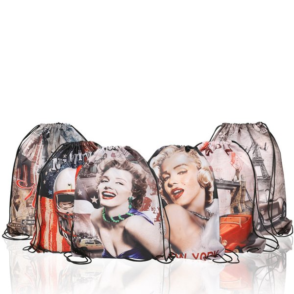 5styles Monroe Receiving Bag drawstring Bundle Shoulder Bag Large Capacity Receive Bags Beach Backpack Waterproof toy Receive Bags FFA1981