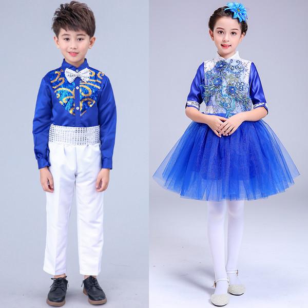 Детский костюм Студенческий хор Костюм девушки принцессы юбка Танцевальное представление Профессиональный балет Туту