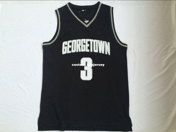 Cheap custom Allen Iverson #3 Georgetown Hoyas Black College Jersey Stitched Customize any number name MEN WOMEN YOUTH XS-5XL