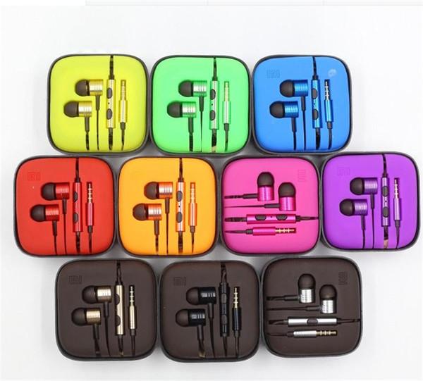 Красочные Металлические Наушники Для Xiaomi Универсальные Гальванические Наушники С Шумоподавлением Наушники-Вкладыши Для iPhone Samsung Смартфон Android Телефон
