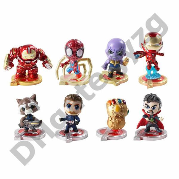 8pc / lot Les Avengers Endgame Justice figures d'action League Marvel Avengers Caractères Super Héros Modèle Action Jouets Chiffres Cadeau pour enfant