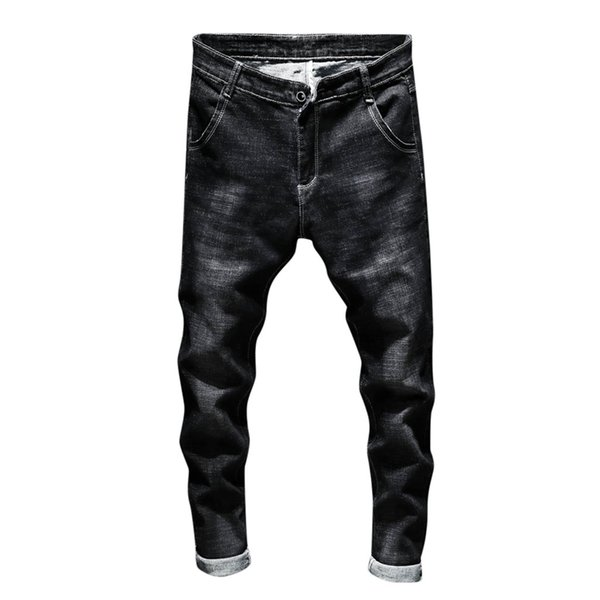 FeiTong Jeans Men Top Brand Men Clothes 2019 Casual Autumn Denim Zipper Fly String Trousers Jeans Pants Of Male