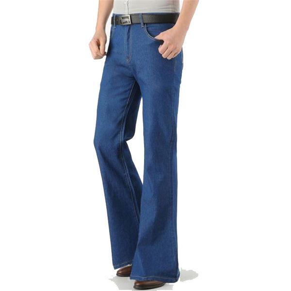 2018 pants Men's New Loose Men'sMicro-bomb boot cut pant Cowboy Flared Trousers Me's Wide Foot Micro-branch pants