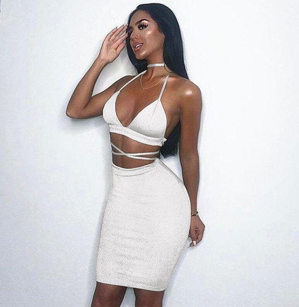 nightclub sexy saco de estilingue hip vestido de 2019 mulheres verão Atacado-encaixe apertado low-cut sexy vestido de saia elástica mulheres novo 003