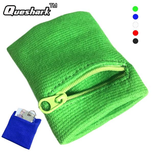 Zipper Wrist Wallet Pouch Running Sports Arm Band Bag For MP3 Key Card Storage Bag Case Badminton Basketball Wristband Sweatband #19417