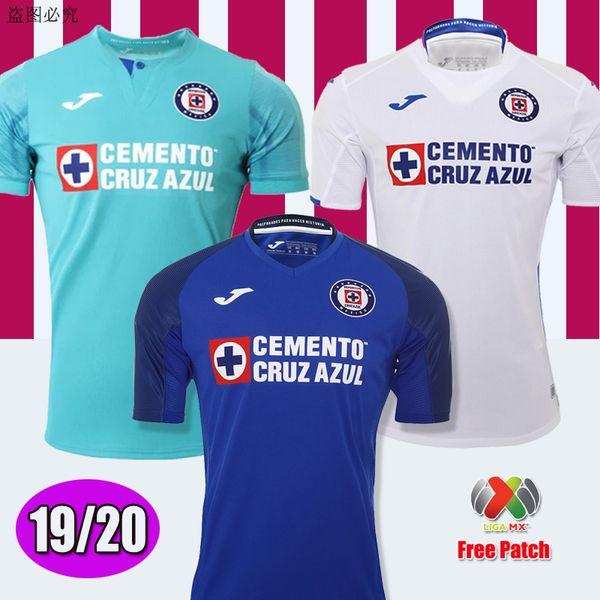 Yeni Geldi 2019 2020 Meksika Kulübü Cruz Azul Liga MX Futbol Formaları 19/20 Ev Mavi Uzakta Beyaz Futbol Gömlek camisetas de futbol Jersey