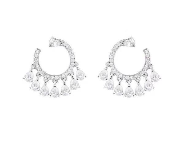 Pearl Tassel New Stud Earrings Ear Jewelry Accessories for Women Wedding Gift 0320