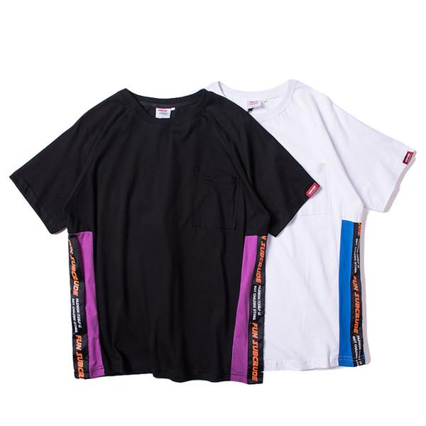 2019 Mode für Männer Designer Kurzarm-T-Shirt schwarz und weiß Persönlichkeit Trend Shirt heiße Produkte den Kauf wert