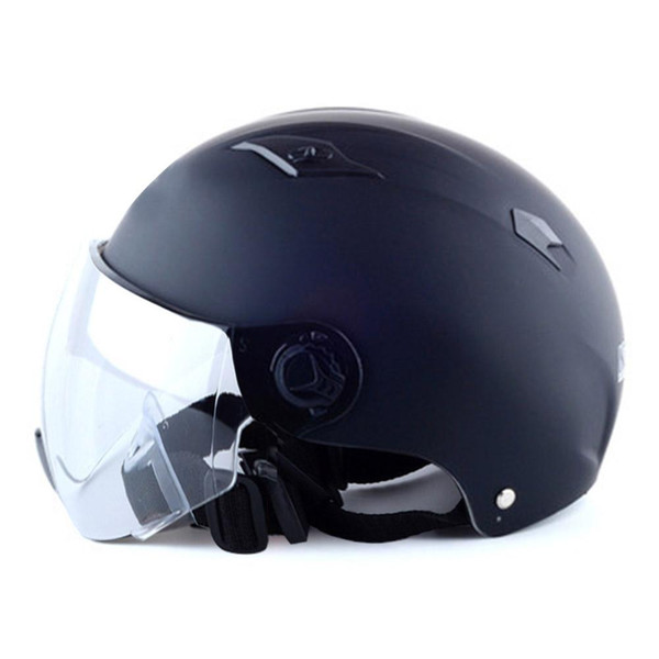 New Motorcycle Half Helmet With Sun Shade Quick Release Strap Half Face Fit For Bike Cruiser Scooter Protective Head Helmet Carbon Helmet Motorcycle