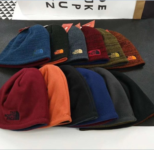Unisex Brand NF skiing cap The north Reversible Beanie hats Face Fleece Winter warm outdoor Beanies Skull Caps Hat Hip Hop streetwear best