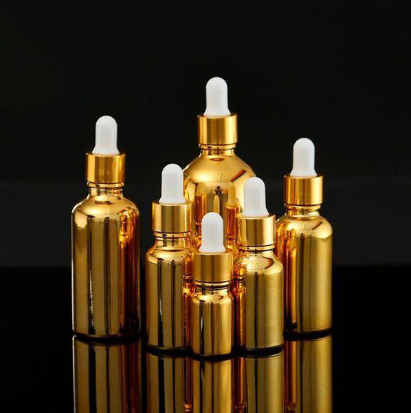 70pcs 5ml 10ml 15ml 20ml 30ml 50ml 100ml Pulvériser Dropper Bouteille en verre Essence Placage Huile essentielle Parfum Soins de la peau Maquillage cosmétique outil