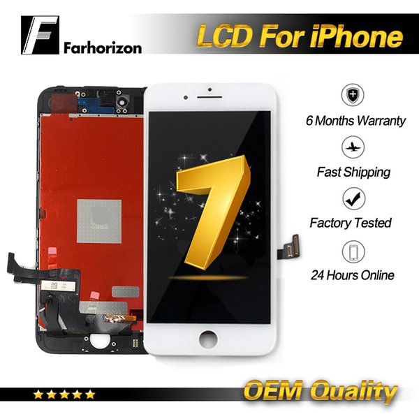 Oem lcd for iphone 7 replacement te ted working lcd di play touch digitizer frame a embly replacement repair for iphone 7