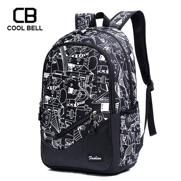 Waterproof Oxford Fabricschool Backpacks For Boys Print School Bags For Girls 17 Inch Laptop Backpack Teenagers Schoolbag