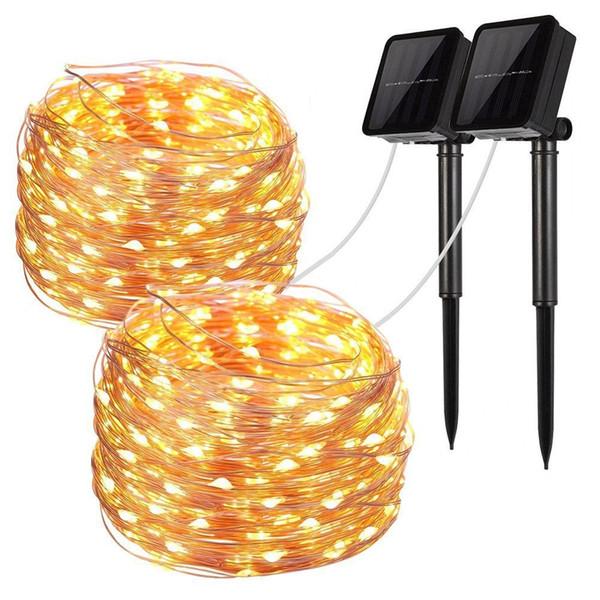 Acheter 20m 200 LED Guirlande Lumineuse Solaire Fil De ...