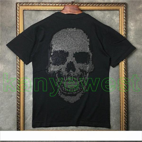 2018 hotselling Mastermind Japan MMJ Runway-T-Shirt zurück mit Scalding Schädelkopfdrucken T-Shirt Männer Baumwoll-T-Shirts T-Hiphop Street