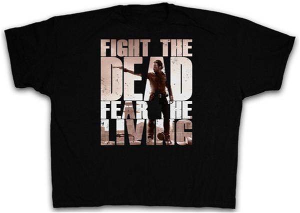 XXXXL FEAR ZOMBIES I T SHIRT TWD Das TV Walking Evil Dead T-Shirt 4XL 5XL XXXXXL
