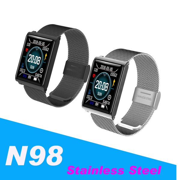 N98 Smart Watch Men Women Smart Watches Fitness Track Band Heart Rate Blood  Pressure Monitor Waterproof Bracelet Alarm Clock PK Fitbit DZ09 Smartwatch