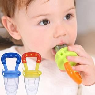 100pcs---Baby bite fruit and vegetable bag Pacifier Soother Nipples Soft Feeding Tool Bite Gags Pacifier Clips Boys & Girls for 3-24 months