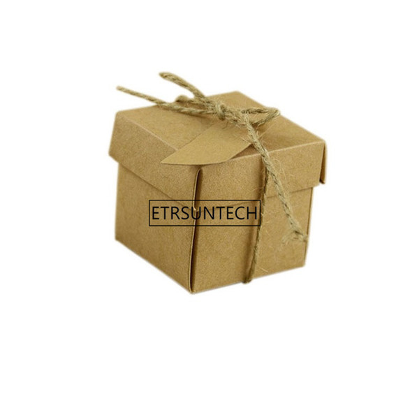 wholesale Small Kraft Paper Gift Packaging Box Folding Cardboard Handmade Soap Candy Boxes Present Packaging Box