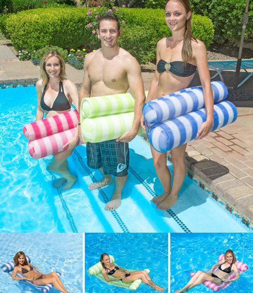 3 Colors Water Hammock Pool Lounger Float Hammock Inflatable Raft Bed Swimming Pool Air Lightweight Floating Chair Compact Portable A309