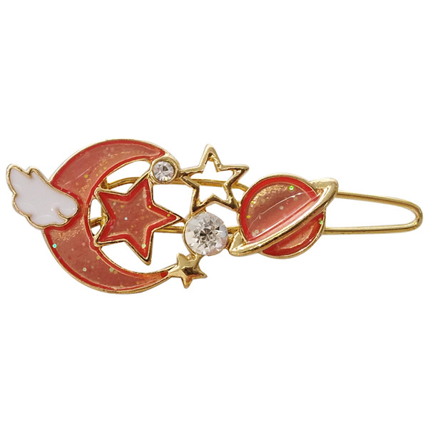 fashion jewelry accessories metal star angel wing moon planet hairclip