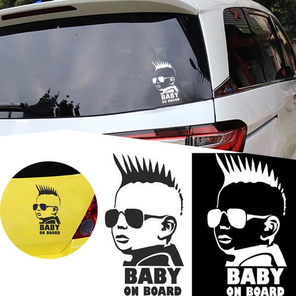 Yansıtıcı Bant Etiketler Araba Sticker BABY BOARD Büyük Bold Blok Mektup Parlak Bebek Arabası Aksesuarları