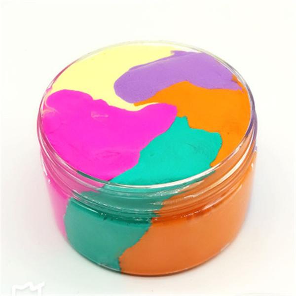 Rainbow Cotton Fairy Cloud Slime Fluffy helado Mud Stress Relief Kids DIY Juguete de goma Barro Juguetes creativos de alta calidad