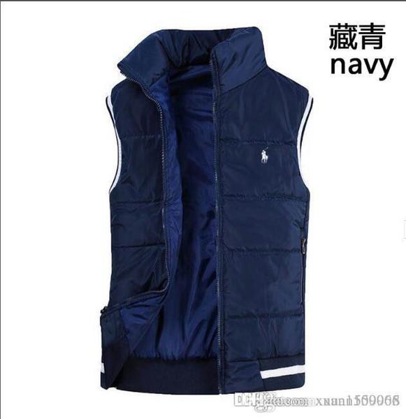 Jaqueta de algodão de inverno para homens outono inverno versão coreana da tendência dos homens para baixo jaqueta casual espessamento colete quente clipe