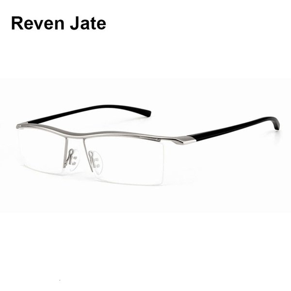 Browline Half Rim Alloy Metal Glasses Frame for Men Eyeglasses Fashion Cool Optical Eyewear Man Spectacles Prescription Frame SH190919