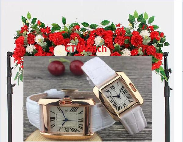 Mechanische Mens Frauen Rot Schwarz Weiß Lederband Quarz-Armbanduhr Stoppuhr Uhr-Top relogies für Männer NICHT Uhren Bestes Geschenk