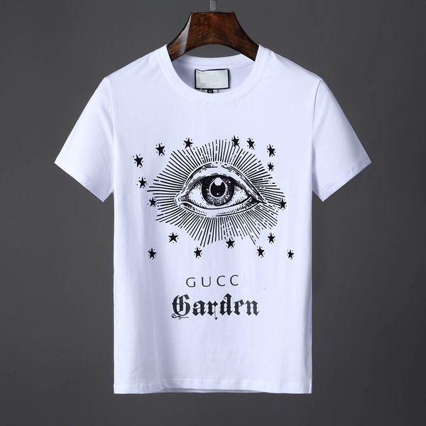 Original German Brand Men's Short Sleeve T-shirt Fashion Crime designer Skull Hip Hop High Quality Print MedusaT-shirt 588