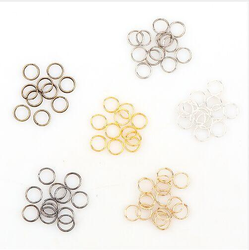 1000pcs/lot 7mm alloy 5color Jump Rings Single Loops Open Jump Rings Split Rings For Jewelry Finding DIY