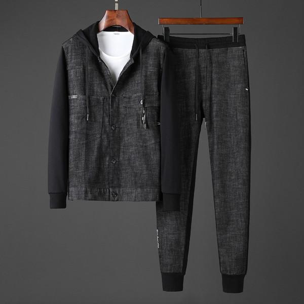 2019Men en Tracksuits Tişörtü Lüks Spor Suit Erkekler Kapüşonlular Ceketler Coat Erkek Medusa Spor Kazak Eşofman Ceket setleri Suits