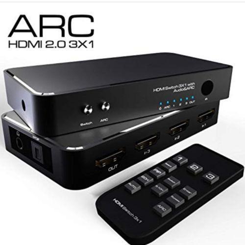 HDMI 1080P 3D Switcher Commutateur boîte de Splitter 4 en 1 sur Port pour la TVHD Xbox PS3 PS4