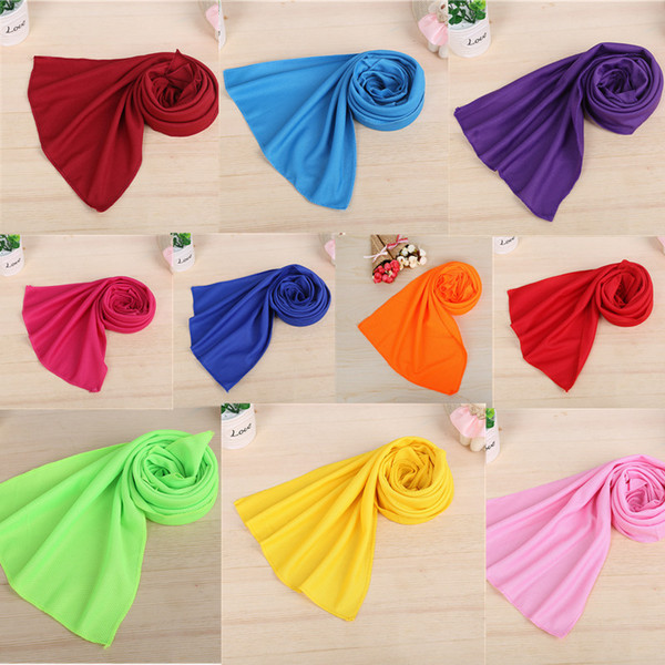 Single Layer 30*90cm Cool Towel Ice Cold Running Jogging Gym Chilly Pad Instant Cooling Towels Outdoor Summer Sunstroke Sports Towel A5802