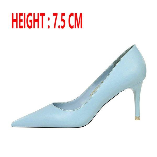 Tacón azul 7.5 CM