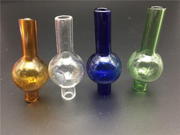 Mais barato Mais Novo Universal de Vidro Colorido bolha carb tampa do tampão de bola redonda para tubos de água de vidro, XL grosso Quartz térmico prego banger