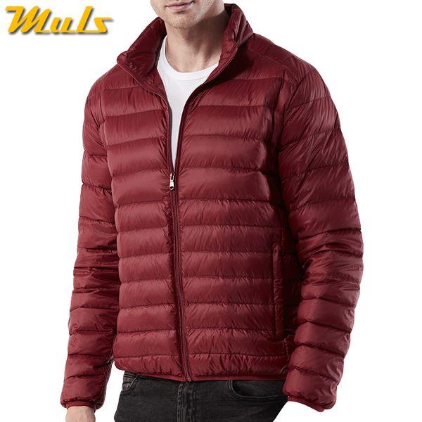 Dropshipping White Duck Down Jacket Coat Men Winter Ultralight Light Male Coats Parka Man Autumn Wind Water Proof Outwear US 3XL