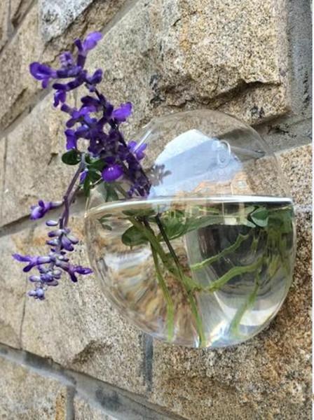 New Wall Bubble Terrari Vaso da parete in vetro per fiori / piante da interno Fioriera da parete per piante grasse Supporti per piante d'aria Home Decor