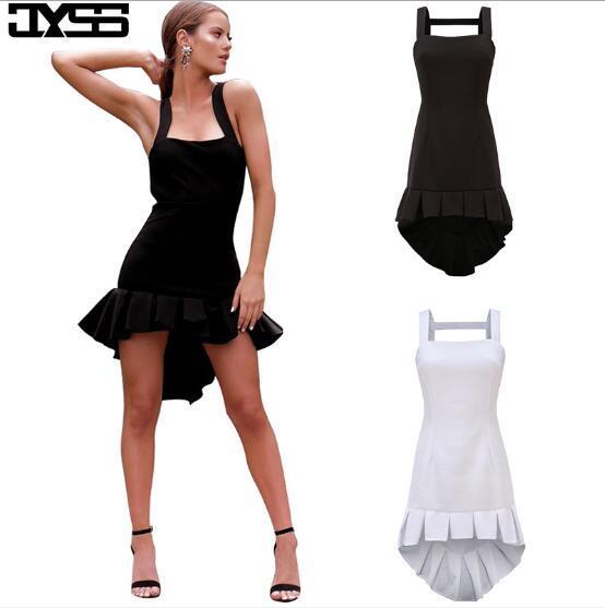 Women Clothes Women's sexy designer dress skirt Slim ruffled irregular knit Summer dress designer white dresses