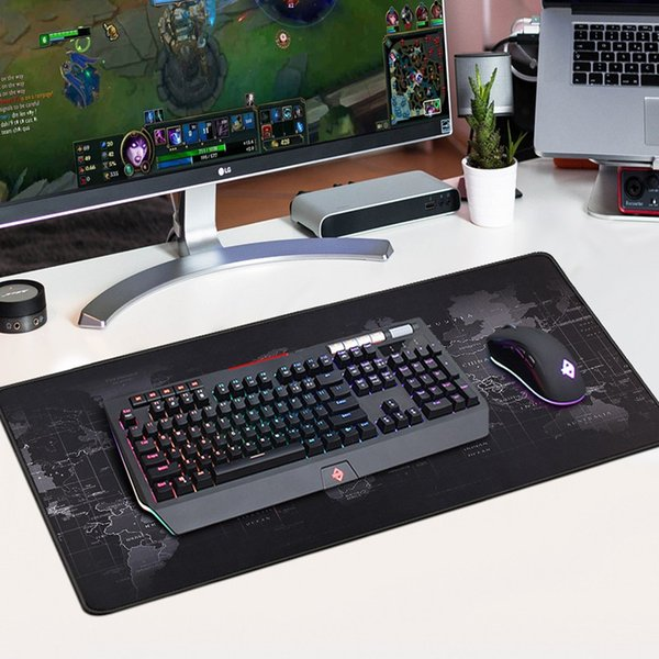 New Gaming Mouse Pads Computer Large Game Mousepad Rubber Surface World Map Keyboard Big Mouse Mat Deck Mats