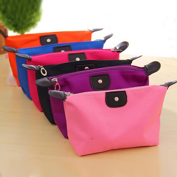top popular Women Portable Pure color Multifunction Home Storage & Organization bag Beauty Zipper Travel Cosmetic Bag Makeup Case Toiletry Pouch Cases 2019