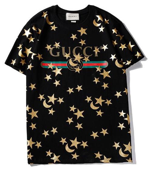 Nueva Carta de Verano Imprimir Camiseta Hombres Camiseta Mezcla de Algodón Camisetas de Manga Corta Camisa Casual Camisas de Marca Camisetas de Diseñador 011 #