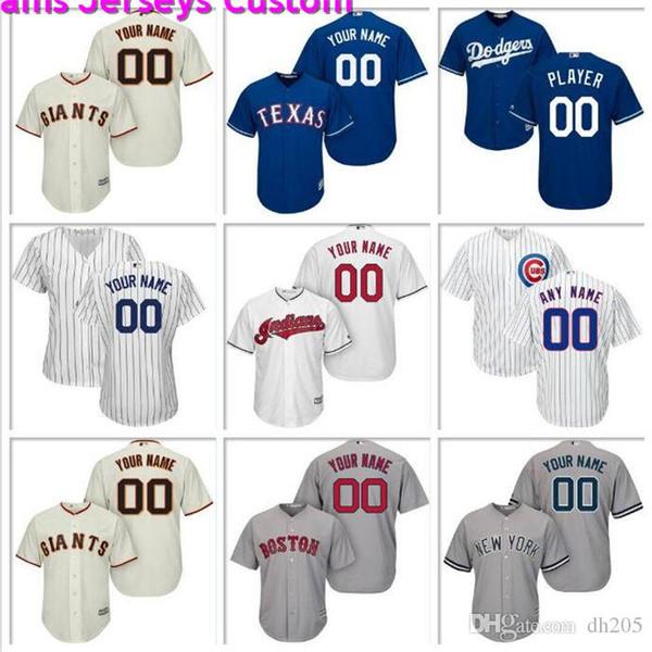 Hommes personnalisé Baseball Jersey Diamondbacks de l'Arizona Reds de Cincinnati Indians de Cleveland Angels de Los Angeles Astros officiels maillots de base fraîche nouvelle